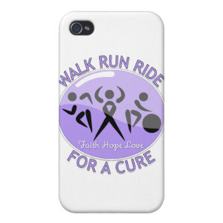General Cancer Walk Run Ride For A Cure Cover For iPhone 4