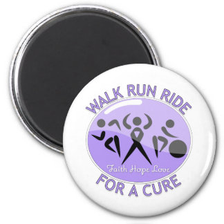 General Cancer Walk Run Ride For A Cure 2 Inch Round Magnet