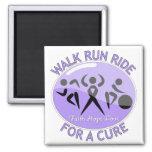 General Cancer Walk Run Ride For A Cure Fridge Magnet