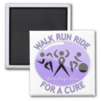 General Cancer Walk Run Ride For A Cure 2 Inch Square Magnet