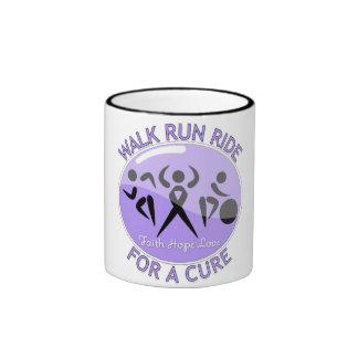 General Cancer Walk Run Ride For A Cure Ringer Coffee Mug