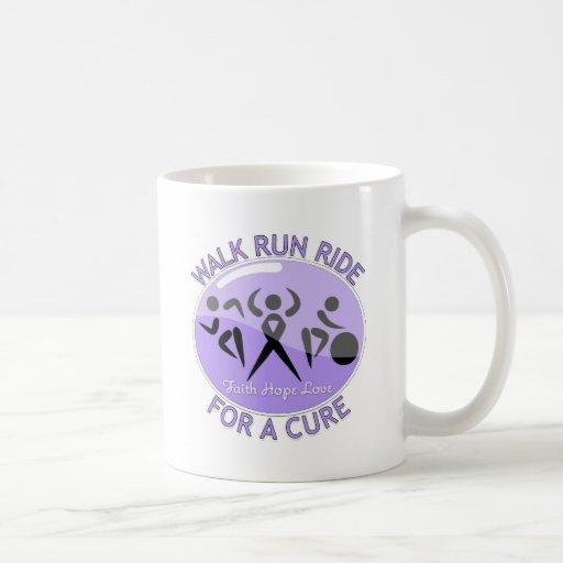 General Cancer Walk Run Ride For A Cure Classic White Coffee Mug