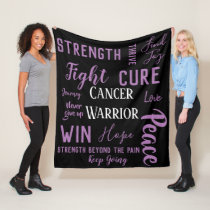 General Cancer Warrior blanket