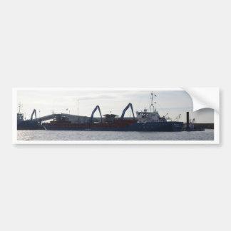 General Cargo Ship Germanica Hav Car Bumper Sticker