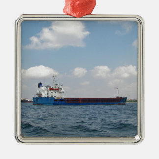 General Cargo Ship Meropa Silver-Colored Square Decoration