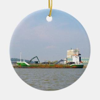General Cargo Ship Visurgis Ceramic Ornament