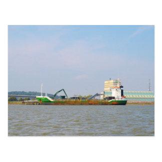 General Cargo Ship Visurgis Postcard