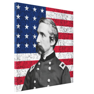 General Chamberlain and The American Flag Canvas Print