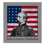General Chamberlain and The American Flag Poster