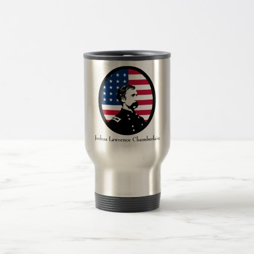 General Chamberlain and the U.S. Flag Travel Mug