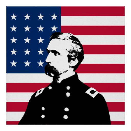 General Chamberlain and The US Flag Poster