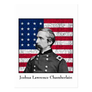 General Chamberlain y la bandera americana Postal