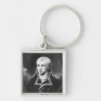 General Charles Pichegru Silver-Colored Square Keychain
