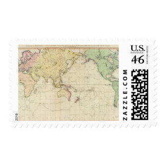 General chart historical map postage stamps