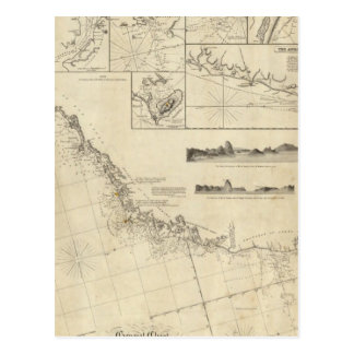 General chart of the coasts of Brasil Postcard