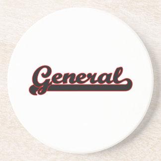 General Classic Job Design Drink Coaster