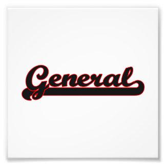 General Classic Job Design Photo Print