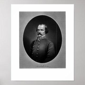 General confederado Albert Sidney Johnston Póster