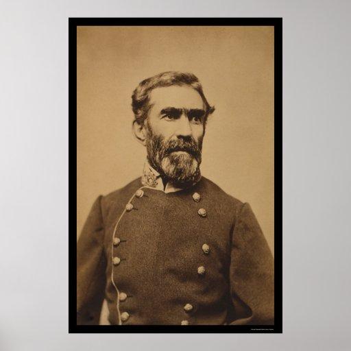 General confederado Braxton Bragg 1862 Impresiones