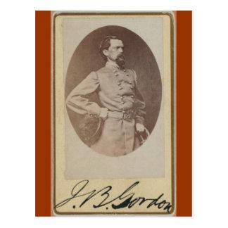 General confederado Juan B. Gordon de la guerra Postales