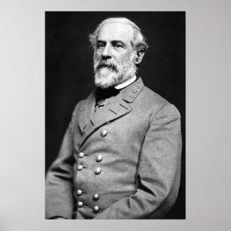 General confederado Roberto E. Lee Portrait Póster