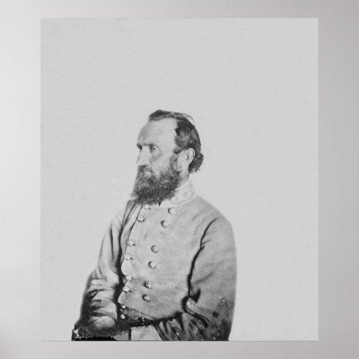 General confederado Thomas J Stonewall Jackson Posters