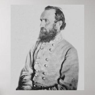 General confederado Thomas J Stonewall Jackson Póster