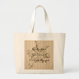 General Conference tote bag with brown oak leaves