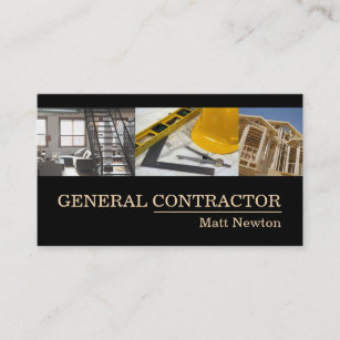 general contractor builder manager construction business card - Contractor Business Cards