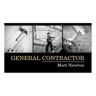 General Contractor Builder Manager Construction Double-Sided Standard Business Cards (Pack Of 100)