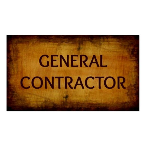 General Contractor Business Card Zazzle