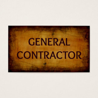 General Contractor Business Card