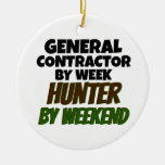 General Contractor by Week Hunter by Weekend Christmas Ornament