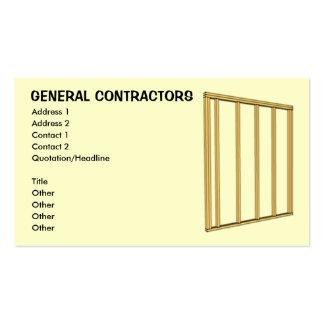 General Contractors Business Card