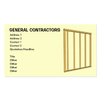General Contractors Business Card Template