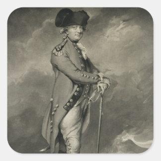 General Cornwallis (1738-1805) engraved by John Jo Square Sticker