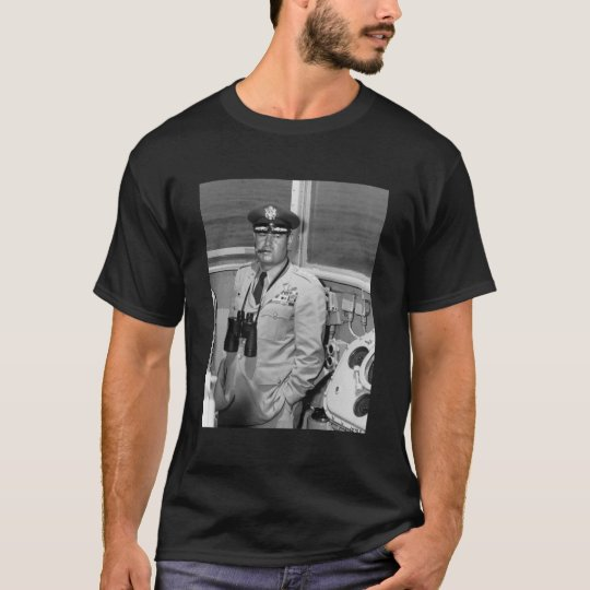 General Curtis Lemay and Quote - black T-Shirt