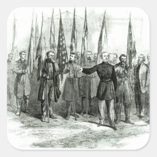 General Custer Square Sticker