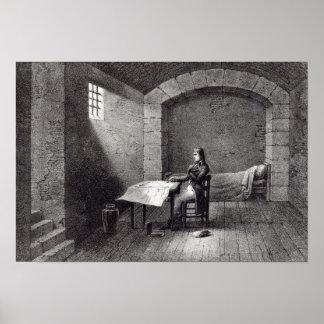 General de brigada Bonaparte en la prisión Póster