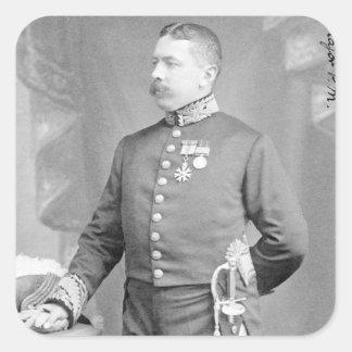 General de brigada sir Percy Molesworth Sykes Pegatina Cuadrada