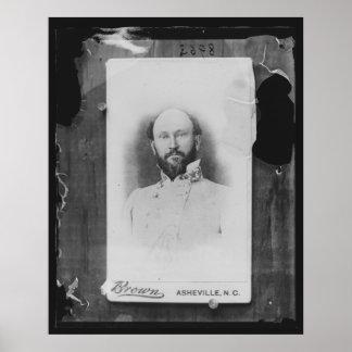 General de general James Green Martin Confederate Póster