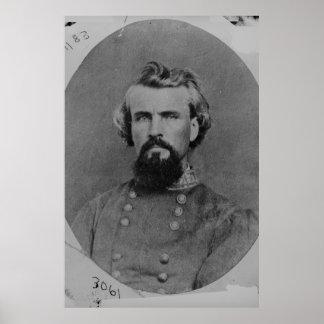General de general Nathan B. Forrest Confederate Póster