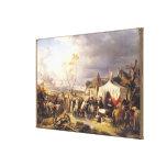 General De La Morliere Receiving la entrega Lona Envuelta Para Galerías