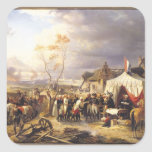 General De La Morliere Receiving la entrega Pegatina Cuadrada