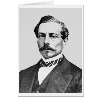 General de Pedro Toutant de Beauregard Confederate Tarjeta De Felicitación