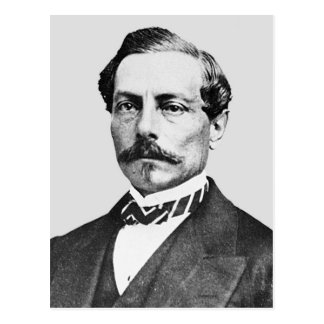 General de Pedro Toutant de Beauregard Confederate Tarjeta Postal