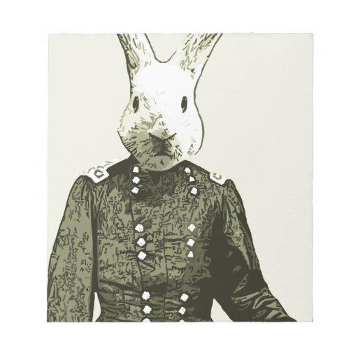 general del conejo bloc de notas