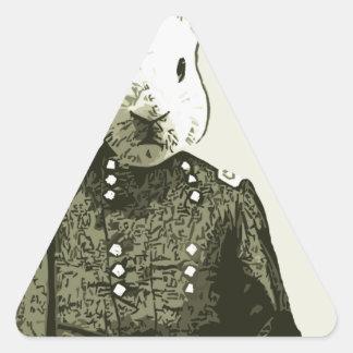 general del conejo pegatinas triangulo