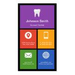 General Dentist - tejas coloridas creativas Plantilla De Tarjeta Personal