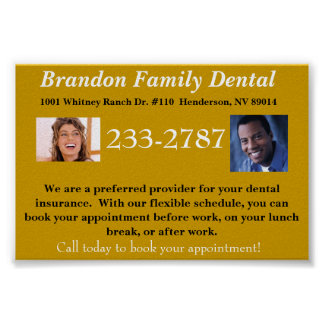 General Dentistry Promotional Poster